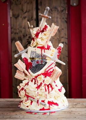 Choccywoccydoodah Game of Thrones Red Wedding Cake Shoot